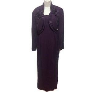 SL Fashions Purple Gown w/ Jacket